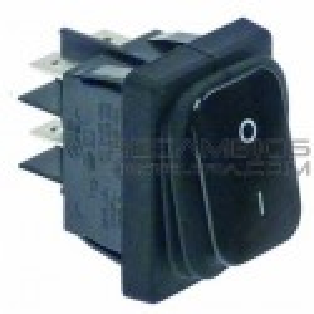 Interruptor negro basculante 30x22