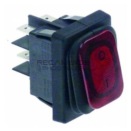 Interruptor rojo basculante 30x22