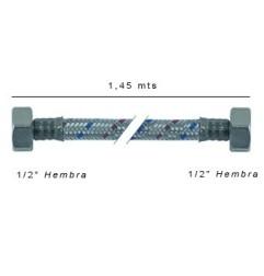 Latiguillos flexos inox 1,45 mts H-H - 1/2