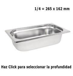 Cubeta Gastronorm 1/4 Elije Profundidad