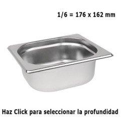 Cubeta Gastronorm 1/6 Elije Profundidad
