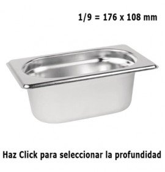 Cubeta Gastronorm 1/9 Elije Profundidad