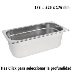 Cubeta Gastronorm 1/3 Elije Profundidad