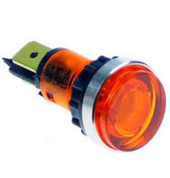 Lampara señalización Ø12 mm Amarilla