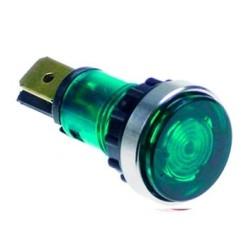 Lampara señalización Ø12 mm Verde