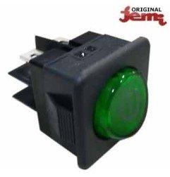 Interruptor verde Cuadrado Jemi