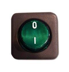 Interruptor verde 25x25 Jemi