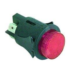 Interruptor pulsador Redondo Rojo