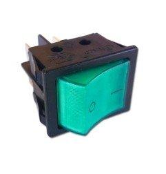 Interruptor verde bipolar 30x22 mm