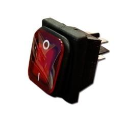 Interruptor rojo 30x22 con protector