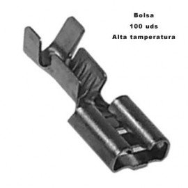 Faston hembra alta temp 100 pcs