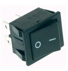 Interruptor negro Basculante