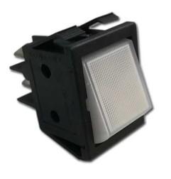 Interruptor blanco 30x22 . Pulsador